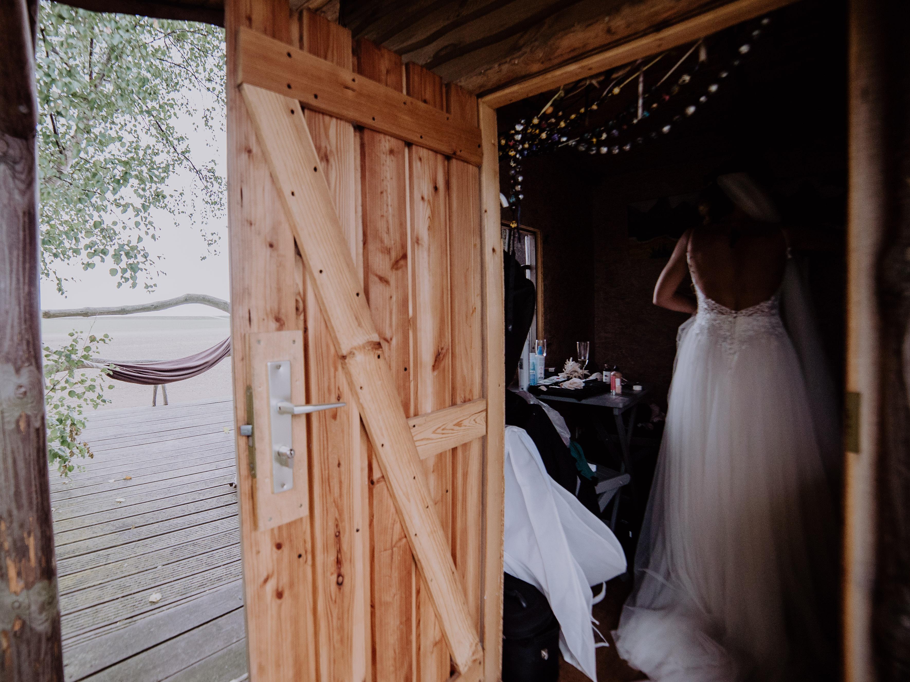 Hochzeit auf Rügen Getting Ready Baumhaus
