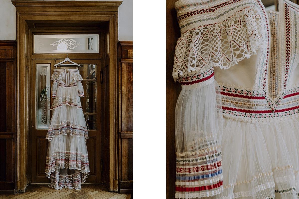 Brautkleid von Lena Hoschek bei einer Hochzeit in Graz